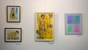 Art by Peter Spaczynski (top left), Angela Fahy (left), Ian Cox (centre), Joan Lawton (right)