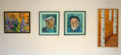 Art by (left to right) Elaine O'Donnell, Mona Storey, Jess Fuller