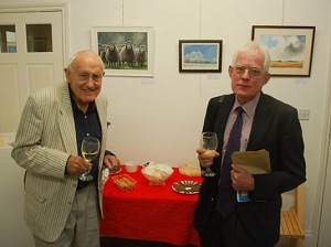 Gallery Director Eddy Double (left) with Edward Wreglesworth from Escritt Barrell Golding.