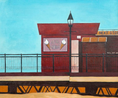 Waiting for Summer - Skegness Pier by Euan Boyd Wallis