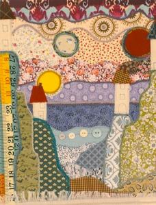 Mindscape 2 (textiles) by Helen Zalewski