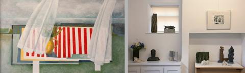 left: The Striped Cloth. Right: Mainly ceramics.