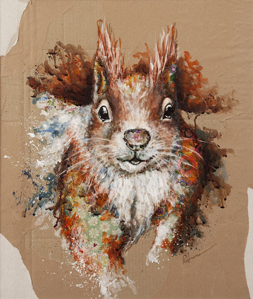 Sparky Squirrel by Rachel Hare.